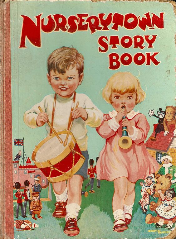 """""""Nurserytown Story Book"""", Dean, undated. Cover illustrated by Dorothy Heather."""