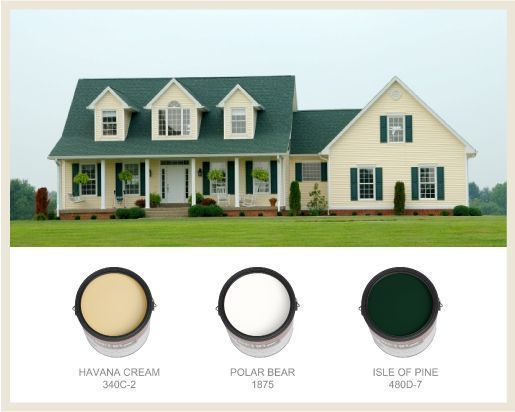 Remodels And Restorations Green House Colors Appeal Green Roof House Colors Curb Appeal In 2020 Green Roof House House Paint Exterior Farmhouse Exterior Colors