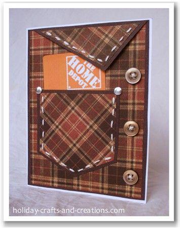 Cute Father's Day Card!: Card Idea, Gift Card Holder, Pocket Card, Fathersday, Masculine Card, Guy Card, Man Card, Male Card