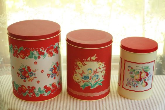 Cottage kitchen canisters