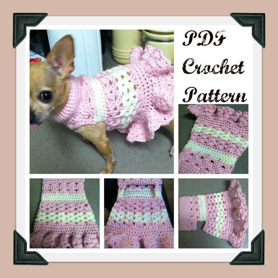 PDF Crochet PATTERN - Littlest Bo Peep Crochet Dog Dress. $4.99, via Etsy.