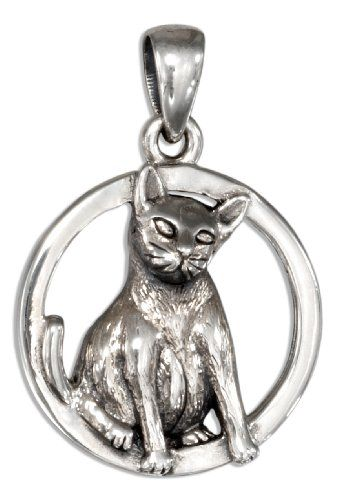 Sterling Silver Siamese Cat Pendant *** Want to know more, click on the image.
