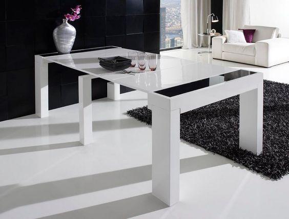 Mesa consola extensible varias posiciones modelo mez medidas 10 - Table transparente extensible ...