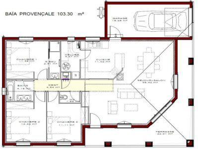 Plan Maison 3 Chambres Baia Meridionale Plan Maison Plan Maison 3 Chambres Plan Petite Maison