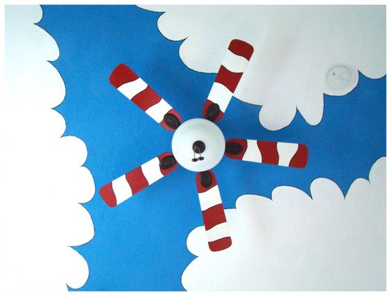 1000 ideas about kids ceiling fans on pinterest ceiling for Dr seuss nursery mural
