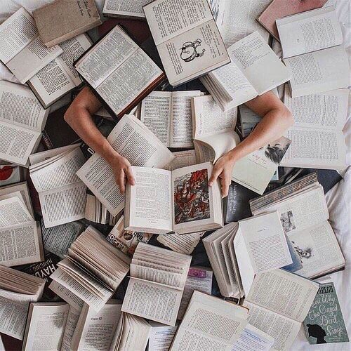 drowning in books | Book photography, Book aesthetic, Book lovers