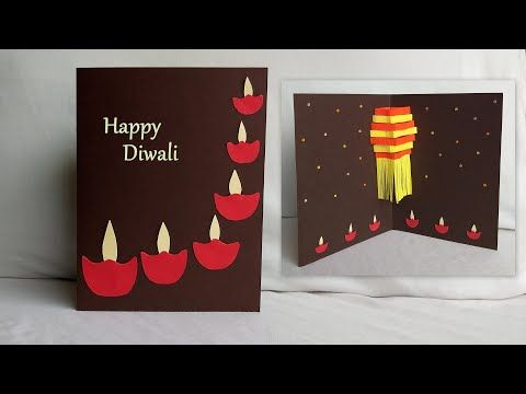 How To Make Creative Pop Up 3d Diwali New Year Greeting Card Diy Handmade Handmade Diwali Greeting Cards Handmade Greeting Card Designs Diwali Greeting Cards