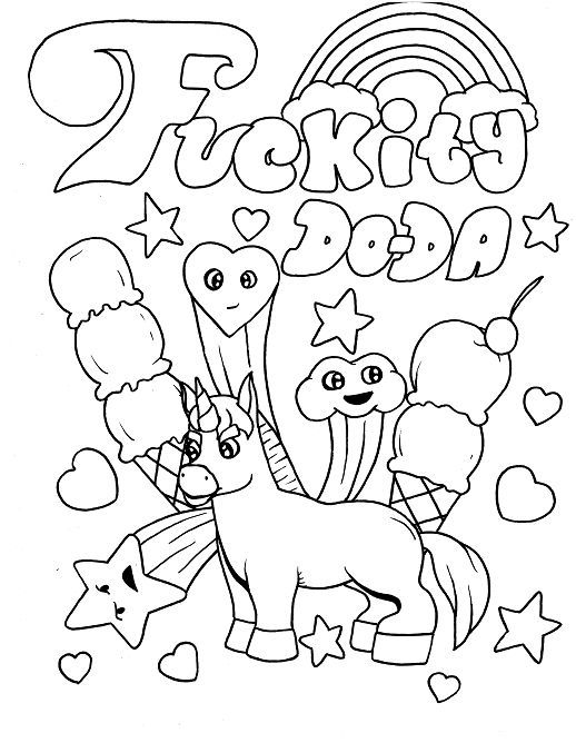 Unicorn Adult Coloring Page Swear 14 Free Printable Coloring