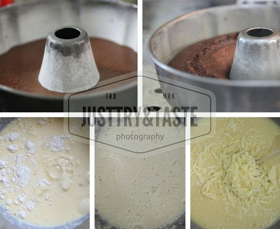 Resep Cake Kukus Lapis Coklat Keju Ide Makanan Seni Makanan Keju