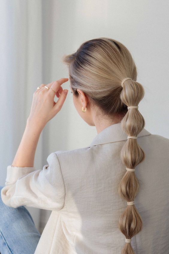 simple hairstyle for school girl
