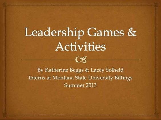 Leadership Games and Activities