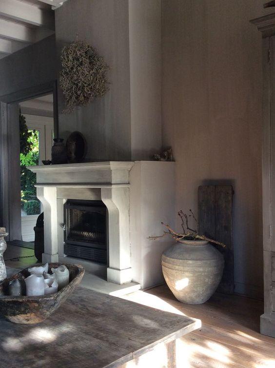 relooker une chemine rustique lareira la with relooker. Black Bedroom Furniture Sets. Home Design Ideas
