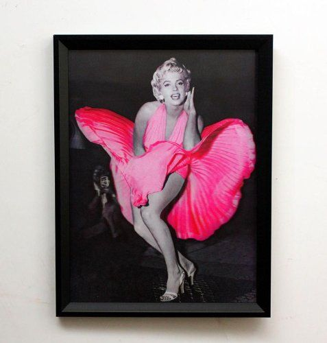 Framed hd 3d iconic print 3 dimensional picture of marilyn monroe ...