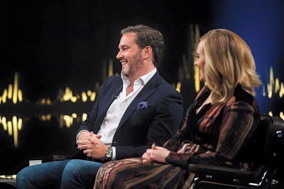 Princess Madeleine and husband Chris O'Neill of Sweden in TV Show. Dec. 2015