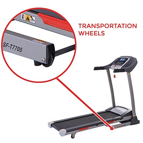 Sunny Health Fitness Portable Treadmill With Auto Incline Lcd Smart App And Shock Absorber Sf T7705 Portable Treadmill Treadmill Unique Workouts