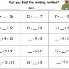math worksheet : students plete the worksheet by finding the missing number in  : Missing Numbers In Addition And Subtraction Worksheets