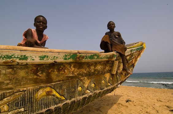 Children on a fishing boat by World Bank Photo Collection, via Flickr
