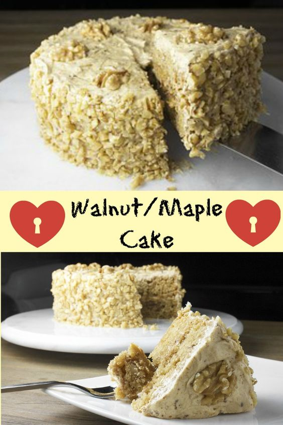 Walnut Maple Cake Recipe Maple Cake And Cakes