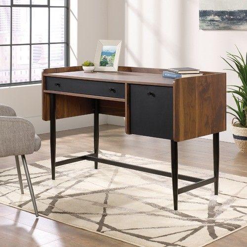 Harvey Park Modern Desk Walnut Desks Desk With File Drawer Cheap Office Furniture