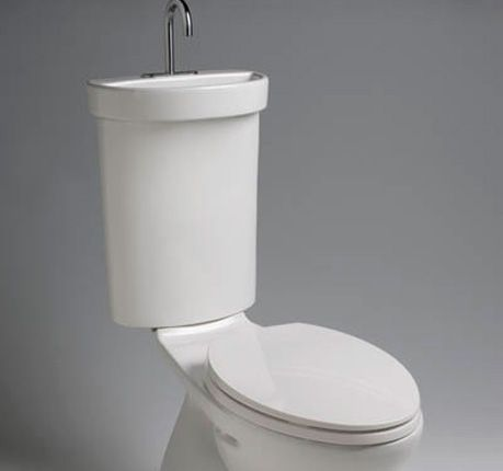 Space Saving Toilet With Built In Sink Fun Photo