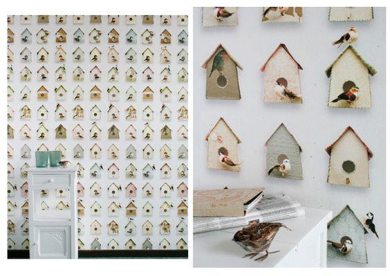 Papier peint Studio Ditte - Cabanes à oiseaux - Studio Ditte, Mes Habits Chéris - kidstore Récréatif - Décoration enfant