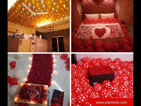 How To Decorate A Room For Wife S Birthday Balloon Decoration