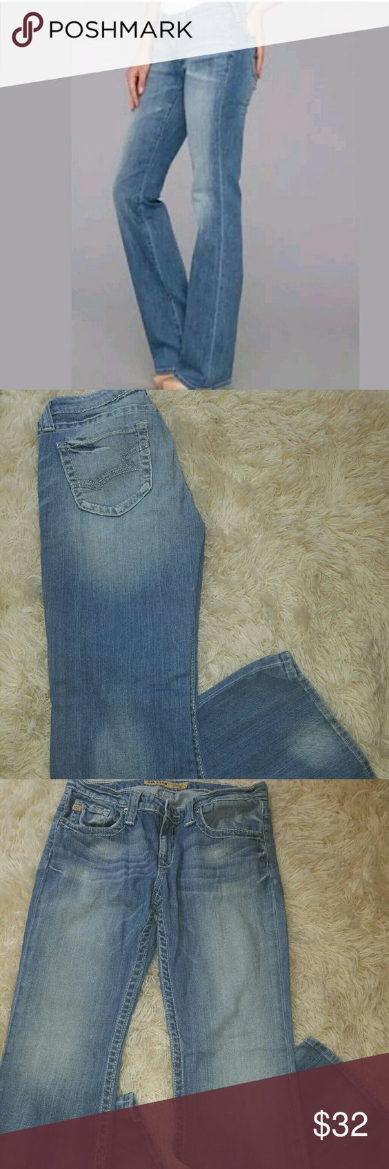 Womens Big Star Remy Lowrise Bootcut Blue Jeans Womens Big Star Remy Lowrise Bootcut Denim Blue Jeans 30R  31 inch waist.  8.25 inch waist.  38 inch waist.  30 inch inseam.   98% Cotton 2% stretch.    LB Big Star Jeans Boot Cut