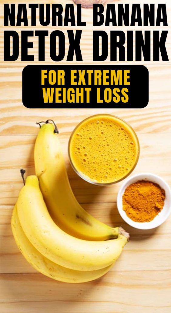 Natural Fat Burning Banana Detox Drink For Extreme Weight Loss...