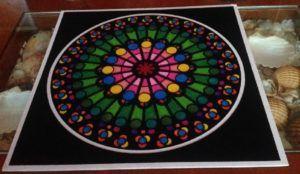 Mandala para la armonía interior pintado con rotuladores