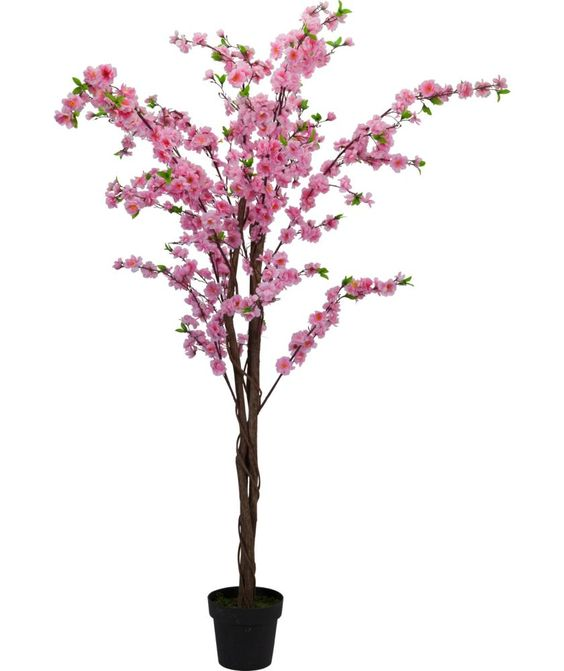Pink Blossom Tree Artificial Tree And Pink Blossom On