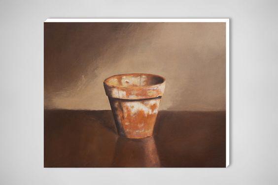 "Egmont Hartwig; Oil, 2010, Painting ""Flowerpot"""