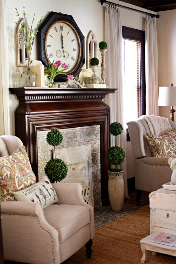 Follow The Yellow Brick Home - Easy Spring Decorating With Bunnies, Birds, and Blooms