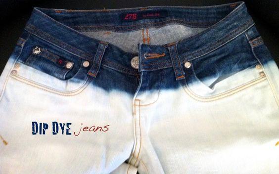 THE BASICS: DIY: DIP DYE jeans
