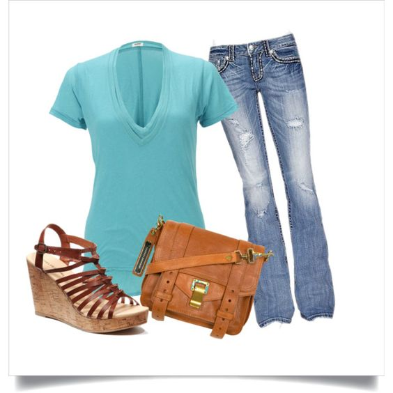 """Turquoise et cuir"" by boucles-dor on Polyvore"