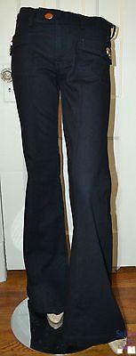 $79.00 : NWOT 7FAM SEVEN FOR ALL MANKIND Cotton X Denim Jeans Trousers Pants SZ 28 Flares