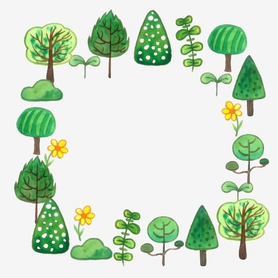 Green Fresh Forest Border New Green Forest Beautiful Png Transparent Clipart Image And Psd File For Free Download Clip Art Borders Clip Art Tree Clipart