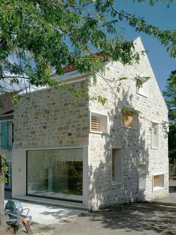 modern stone house - #architect #house #modern #stein  #architect #house #modern #stein #stone