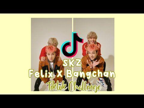 Stray Kids Felix X Bangchan Tiktok Challenge Update Youtube Challenges Felix Kids