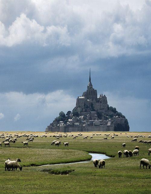 Mont Saint-Michel in Normandy, France (via Danny Vangenechten). - See more at…