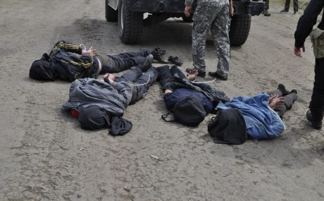 During the ATO (antiterrorist operation) in Slovyansk, Ukrainian special forces captured 4 separatists. These Russian extremists might have connection with the shooting from MPADS and taking down two Ukrainian helicopters of Ukrainian military forces.