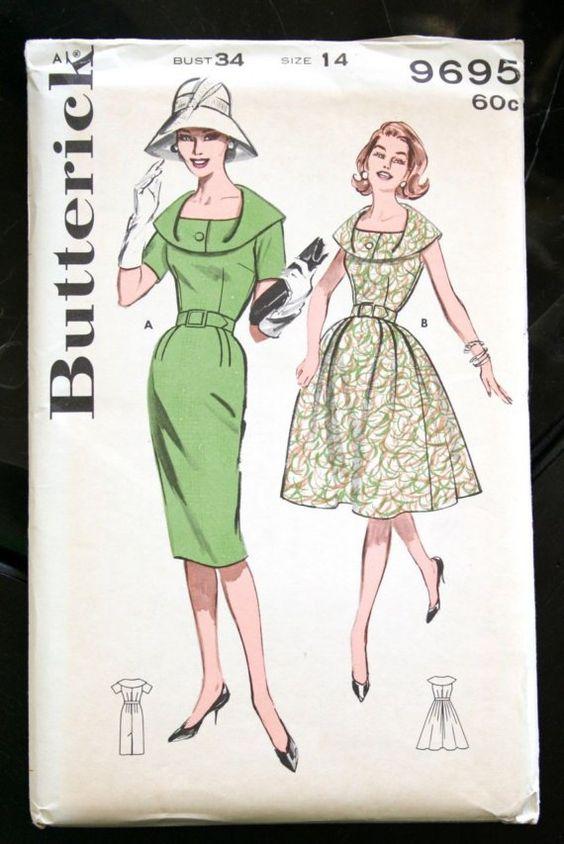 Early 1960s Vintage Sewing Pattern  MISSES DRESS von TheWayWeWear