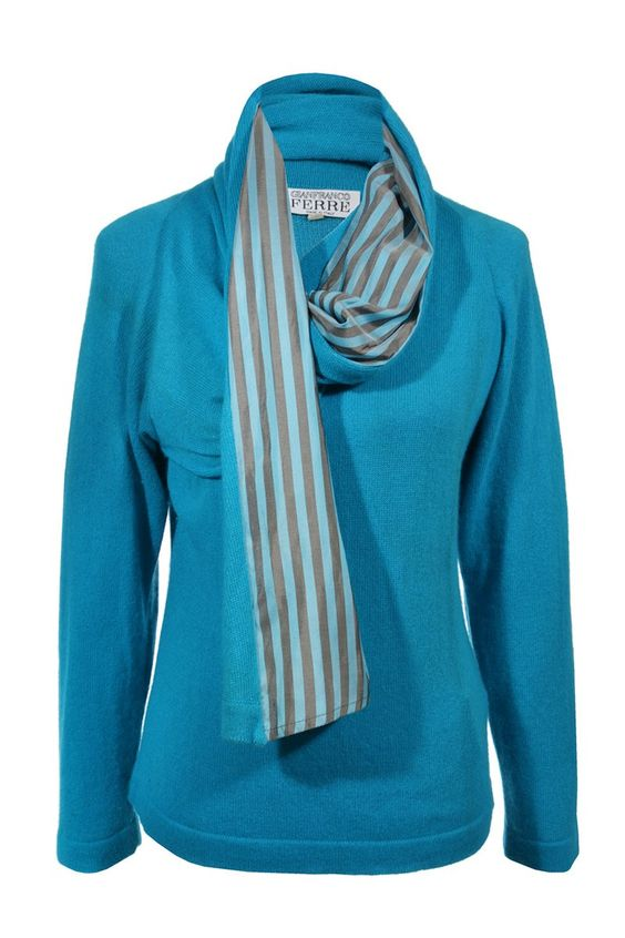 #GianfrancoFerre #cashmere #blue #fashion #vintage #clothes #accessories #secondhand #onlineshopping #mymint