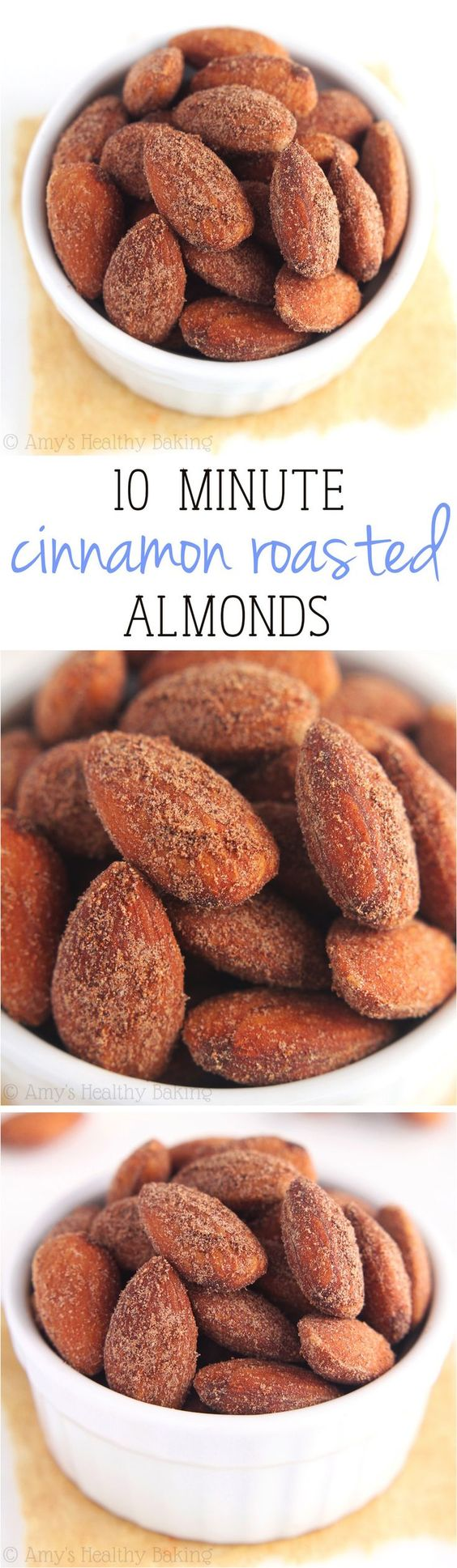 Cinnamon roasted almonds, Roasted almonds and 4 ...
