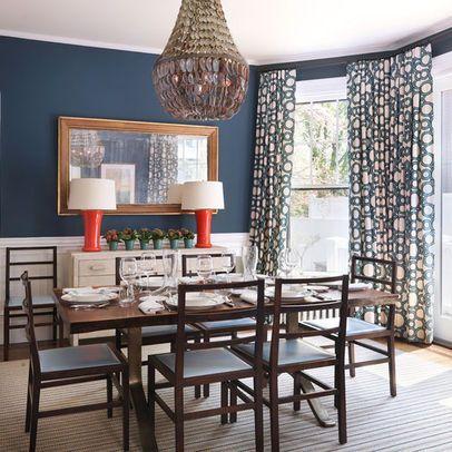 Blue dining room taylor interior design dining room for Light blue dining room ideas
