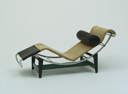 Chaise Longue (LC/4) by Le Corbusier, Pierre Jeanneret, and Charlotte Perriand.  French, 1928.  Manufactured by Thonet Freres, Paris.