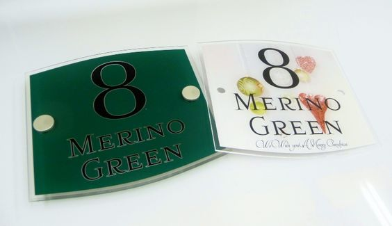 Signs for houses  Do you have a #green #door cool you can now have a green sign & an #xmas sign to match #yipee http://www.de-signage.com/contemporary-acrylic-house-name-plate.php …   pic.twitter.com/wMCxPs4Hnr