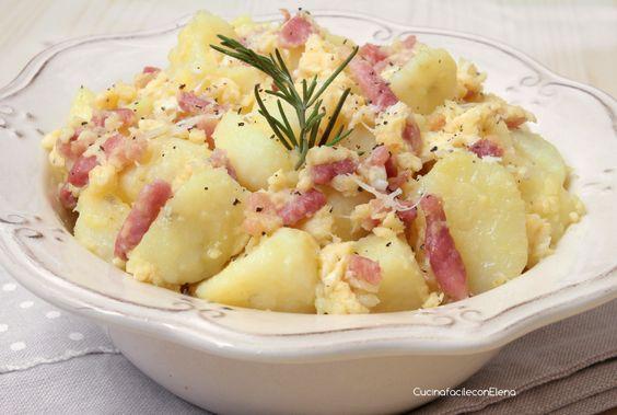 Le Patate alla Carbonara sono una deliziosa ricetta che ho sperimentato qualche giorno fa, sono semplici e veloci da realizzare, economiche e tanto golose!!