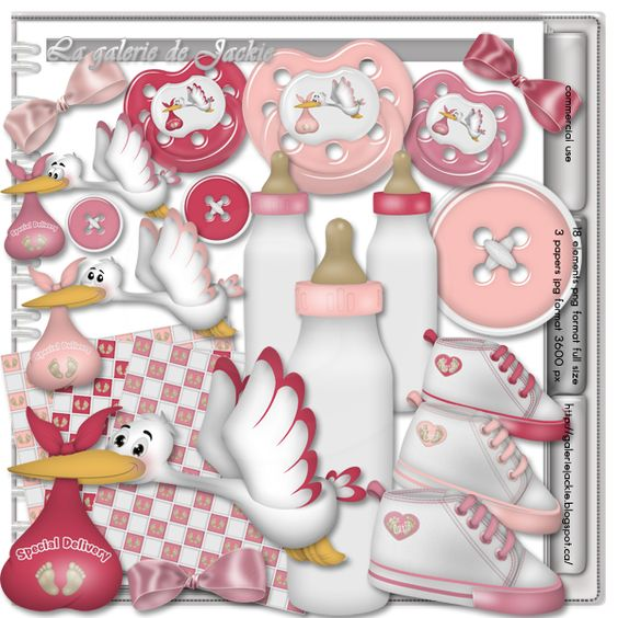 GJ-CU Welcome baby 1 FS : Scrap and Tubes Store, Digital Scrapbooking Supplies