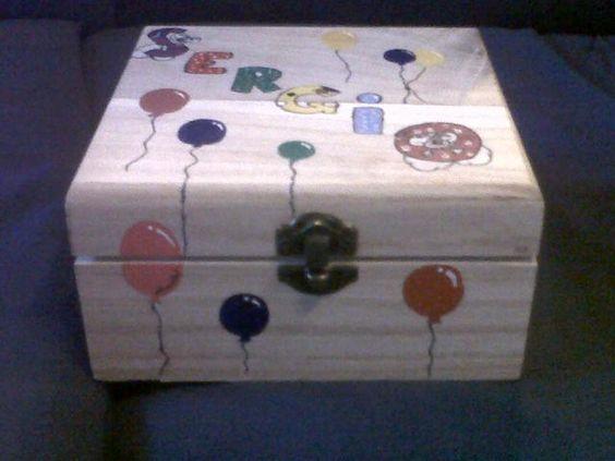 Cajas de madera decoradas artesanalmente pintadas con - Cajas de madera decoradas ...