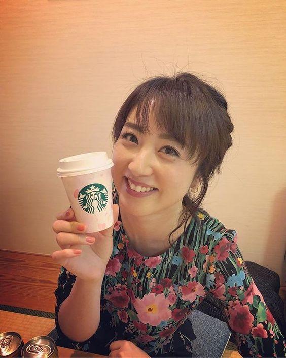 川田裕美アナウンサーのスターバックス